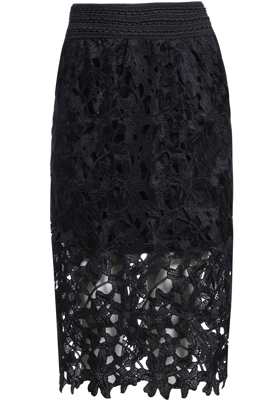 Floral Crochet Hollow Lace Skirt