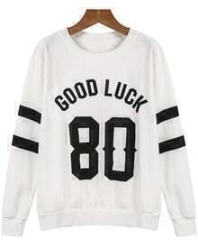 GOOD LUCK 80 Print Sweatshirt