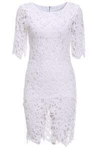 Lace Embroidered  Hollow Bodycon Dress