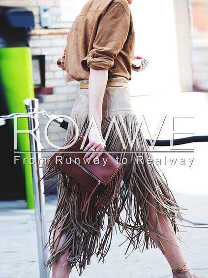 Vid Brown straight skirt awww