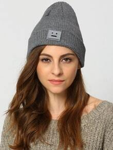 Smile Patch Grey Hat