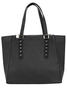 Black Stud PU Shoulder Bag