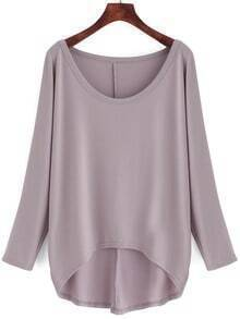 High Low Loose Grey T-shirt