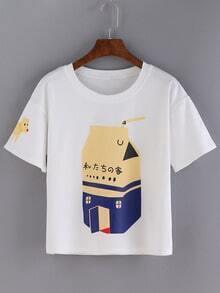 Dog Print Loose T-shirt