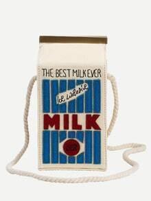 White Milk Cartons Shoulder Bag
