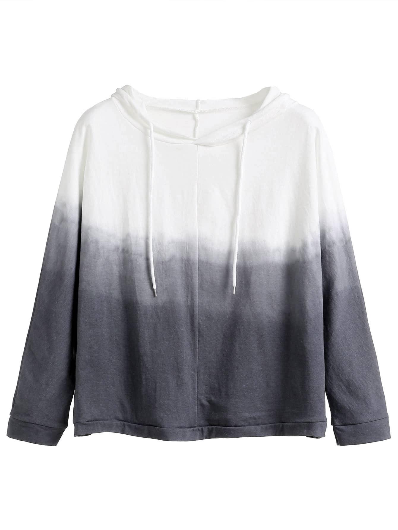 Grey Ombre Hooded Sweatshirt
