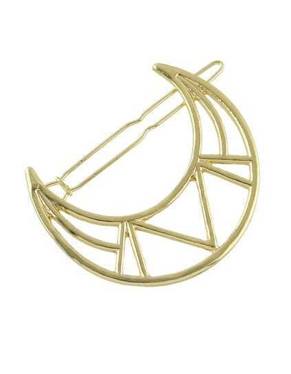 Gold Moon Shape Hair Clips