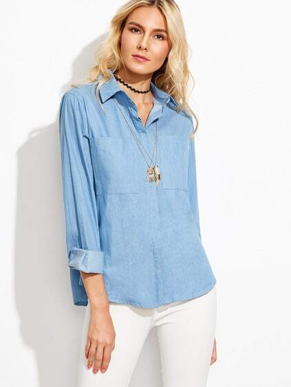 Dual Pocket Denim Shirt