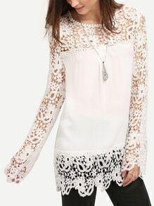 Floral Crochet Lace Blouse