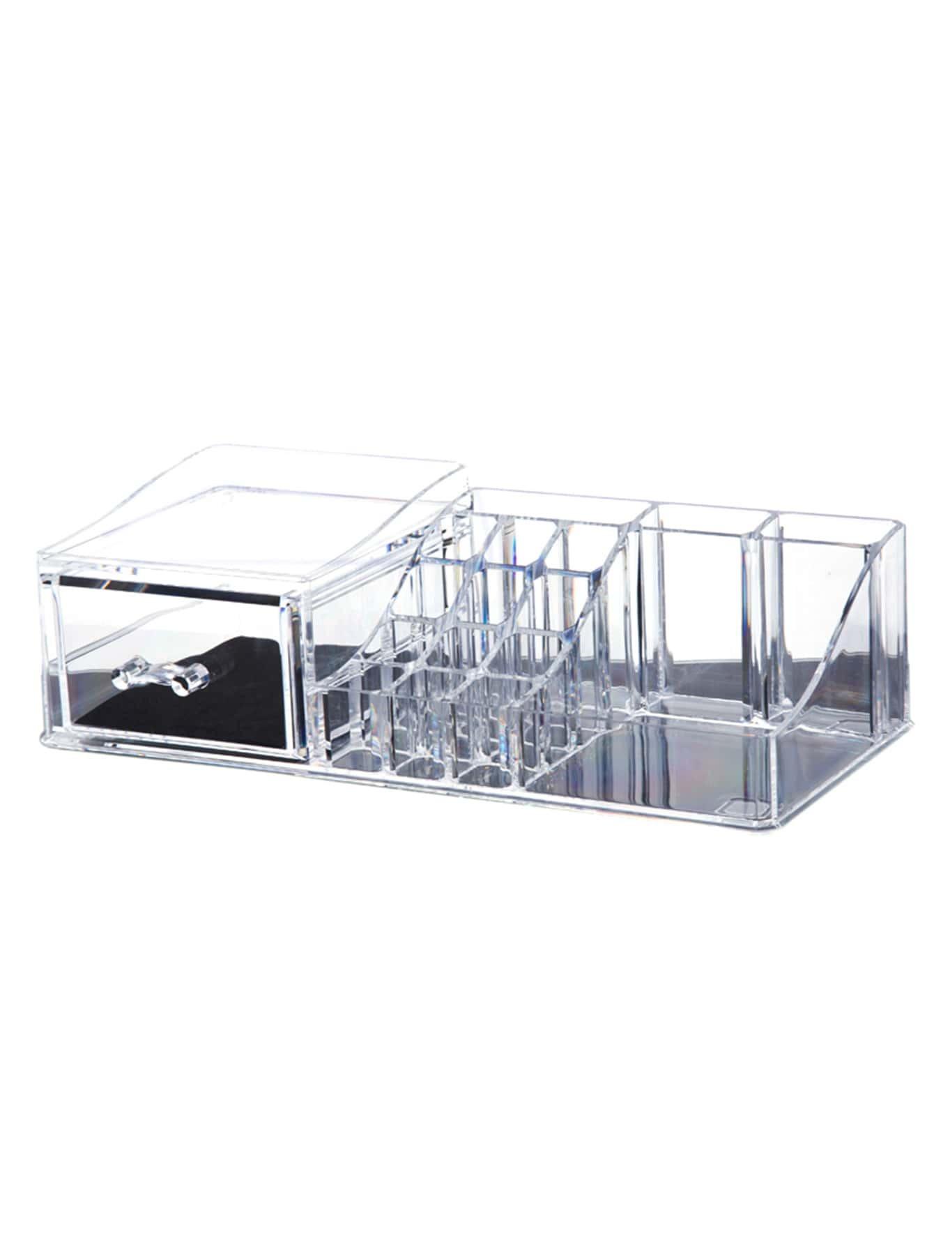 rangement maquillage et beaut en acrylique avec tiroir french romwe. Black Bedroom Furniture Sets. Home Design Ideas