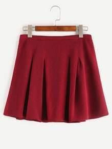 Falda plisada con cremallera - rojo