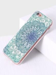 Funda para iphone 6plus con estampado de flor - verde