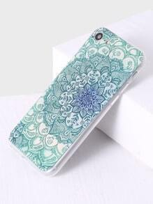 Funda para iphone 7 con estampado de flor - verde
