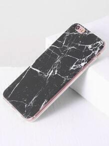 cas de marbre noir 6plus modèle iphone