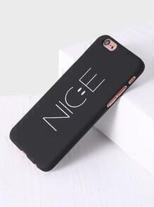Black Letter Print iPhone 6/6s Case