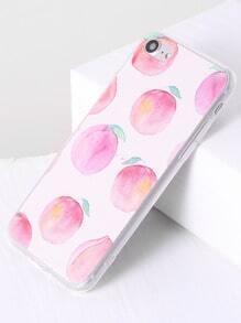 Funda para iphone 7 con estampado de melocotón - rosa