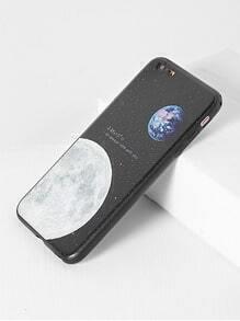 Funda para iphone 6 plus/6s con estampado de Luna - negro