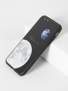 Funda para iphone 6/6s con estampado de Luna - negro