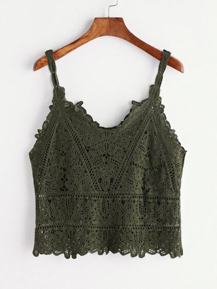 Crochet Dentelle Hollow Out Cami Top