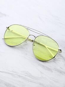Metal Top Bar Aviator Sonnenbrille