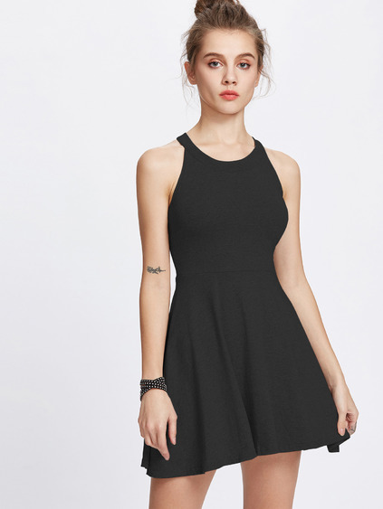 Halter Neckline A Line Dress