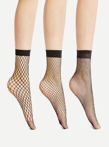 Fishnet Ankle Socks 3 Pair