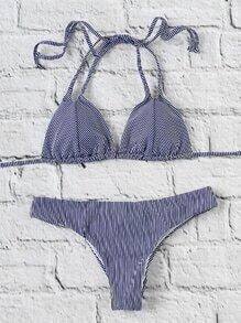 Sets de bikini triángulo de rayas