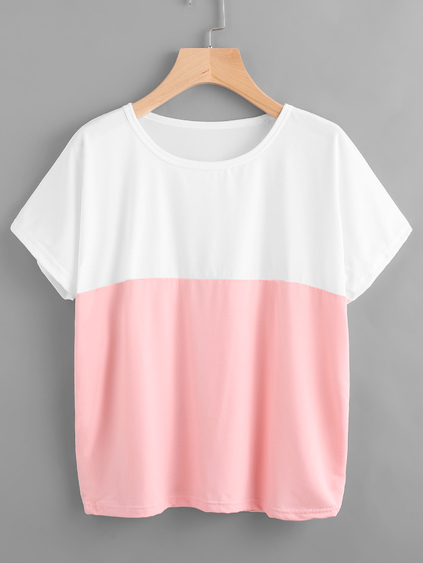 Camiseta de color combinado