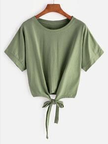 Tee-shirt avec un nœud