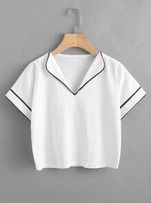 Tee-shirt bicolore découpé