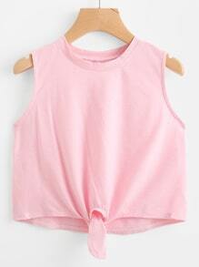 Knot Front Tank Top
