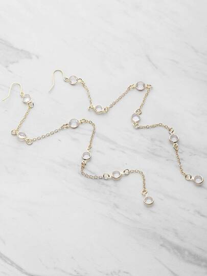 Crystal Chain Drop Earrings