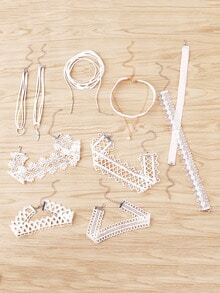 Lace Choker Necklace Set 10pcs
