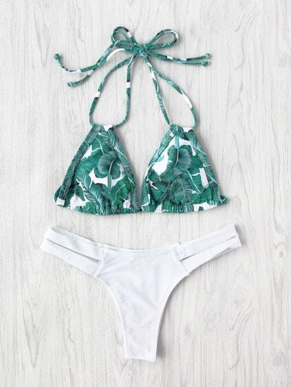 Jungle Print Cutout Mix & Match Bikini Set