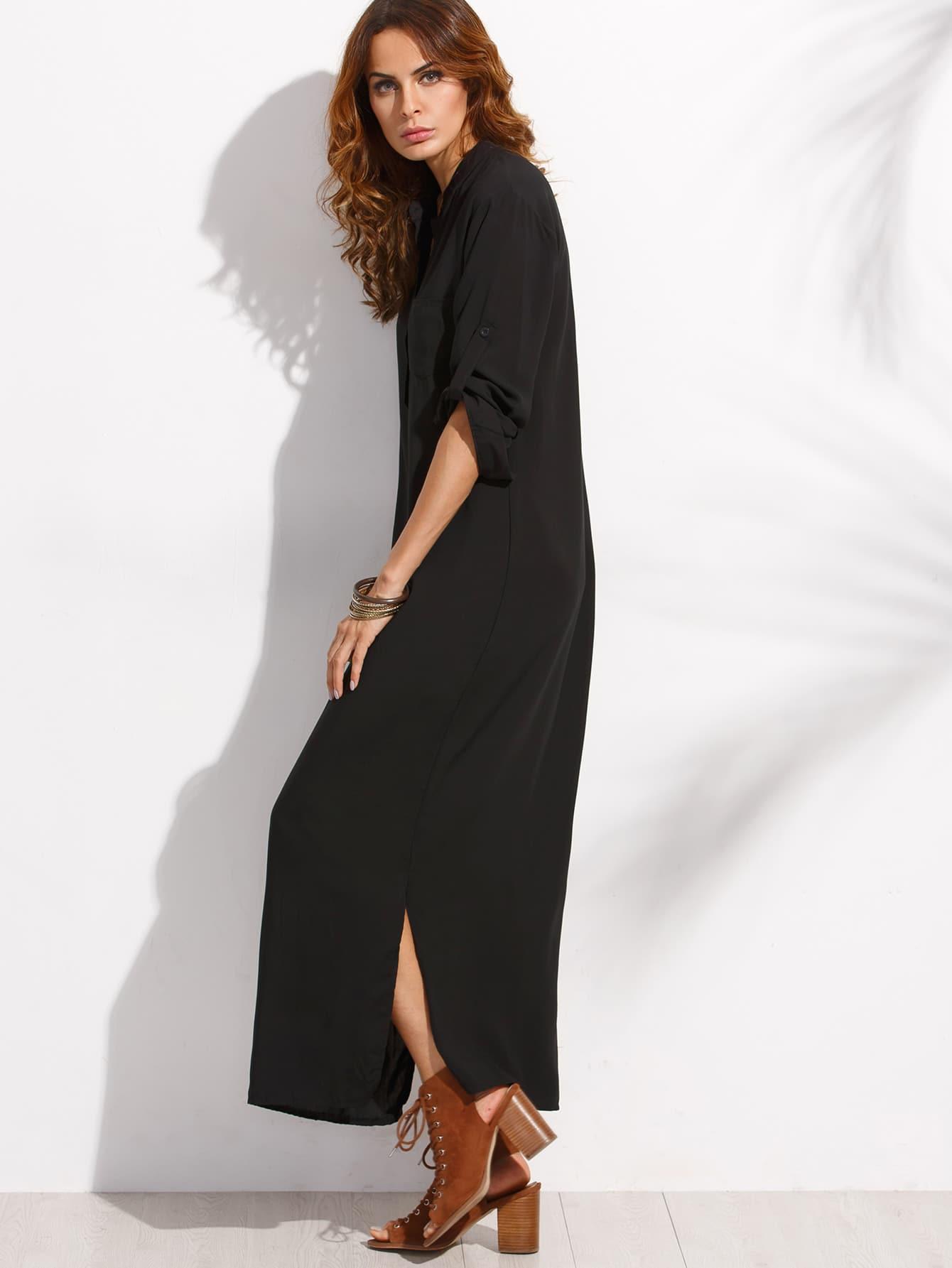 Black maxi jersey dress