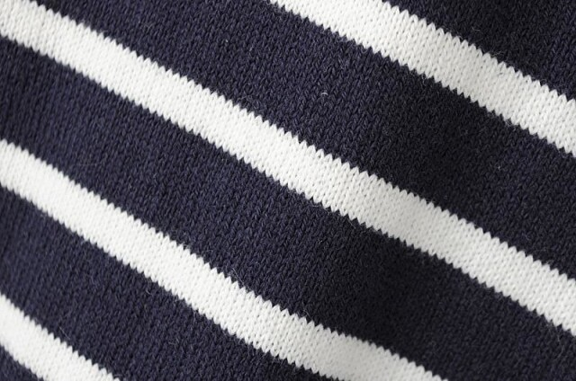 Elbow patch striped loose navy sweaterfor women romwe for Elbow patch template