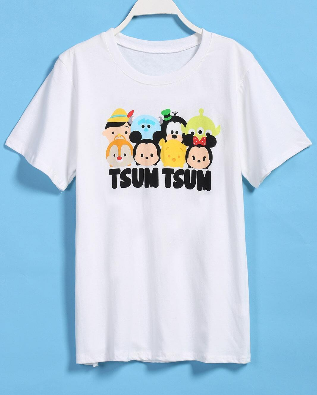 Cartoon tsum print t shirt for Kinkos t shirt printing