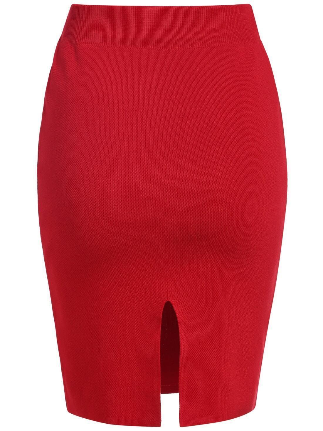 Falda cropped tubo rojo spanish romwe sitio m vil for Tubo corrugado rojo precio