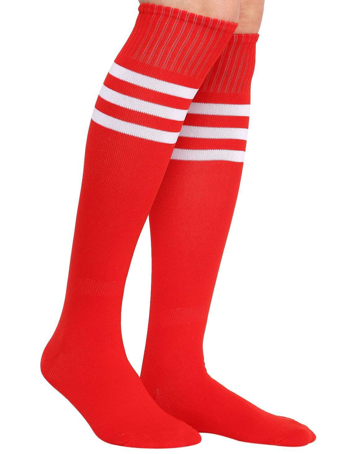 Medias rayas tubo rojo spanish romwe sitio m vil for Tubo corrugado rojo precio