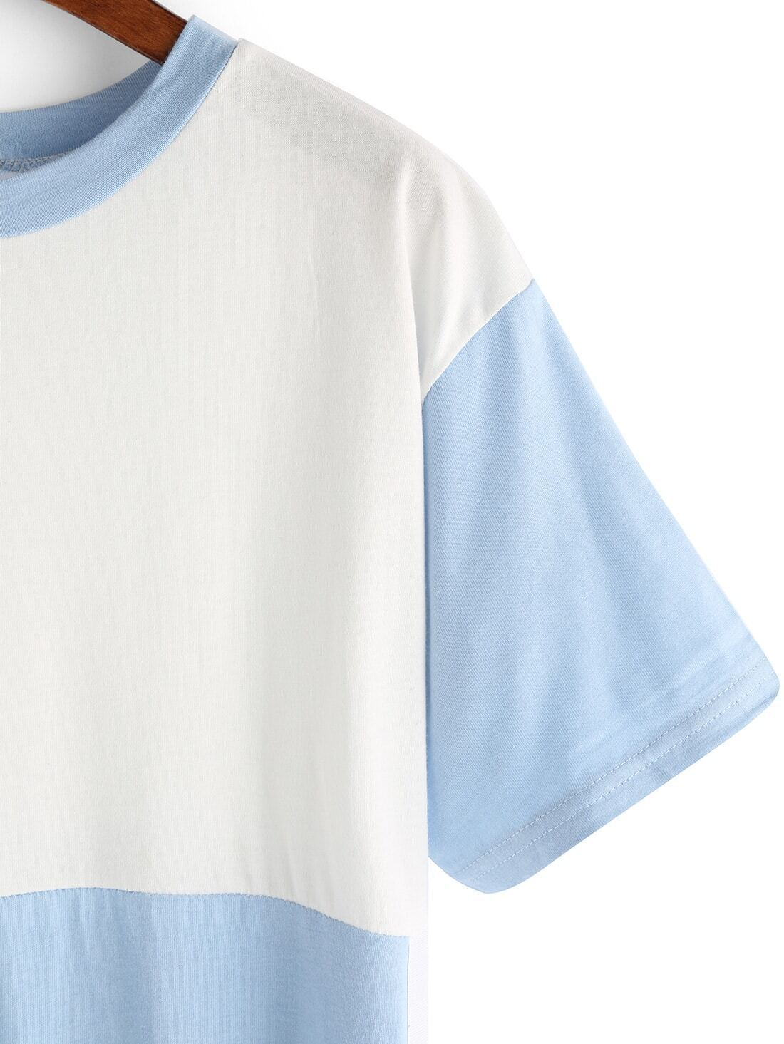 Contrast Color Ribbon Embellished T Shirt Dressfor Women Romwe
