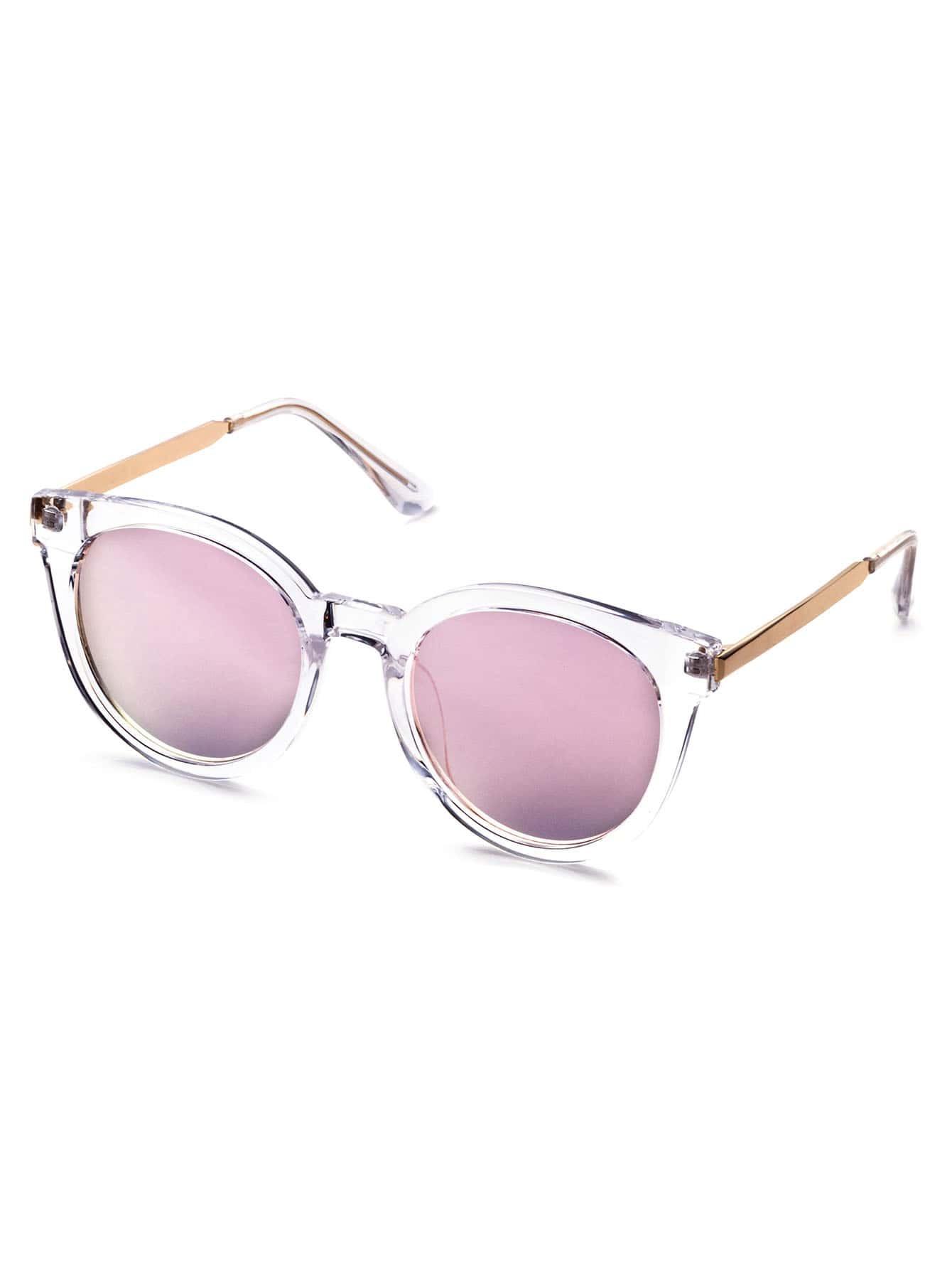 lunettes de soleil monture transparent forme en il de. Black Bedroom Furniture Sets. Home Design Ideas