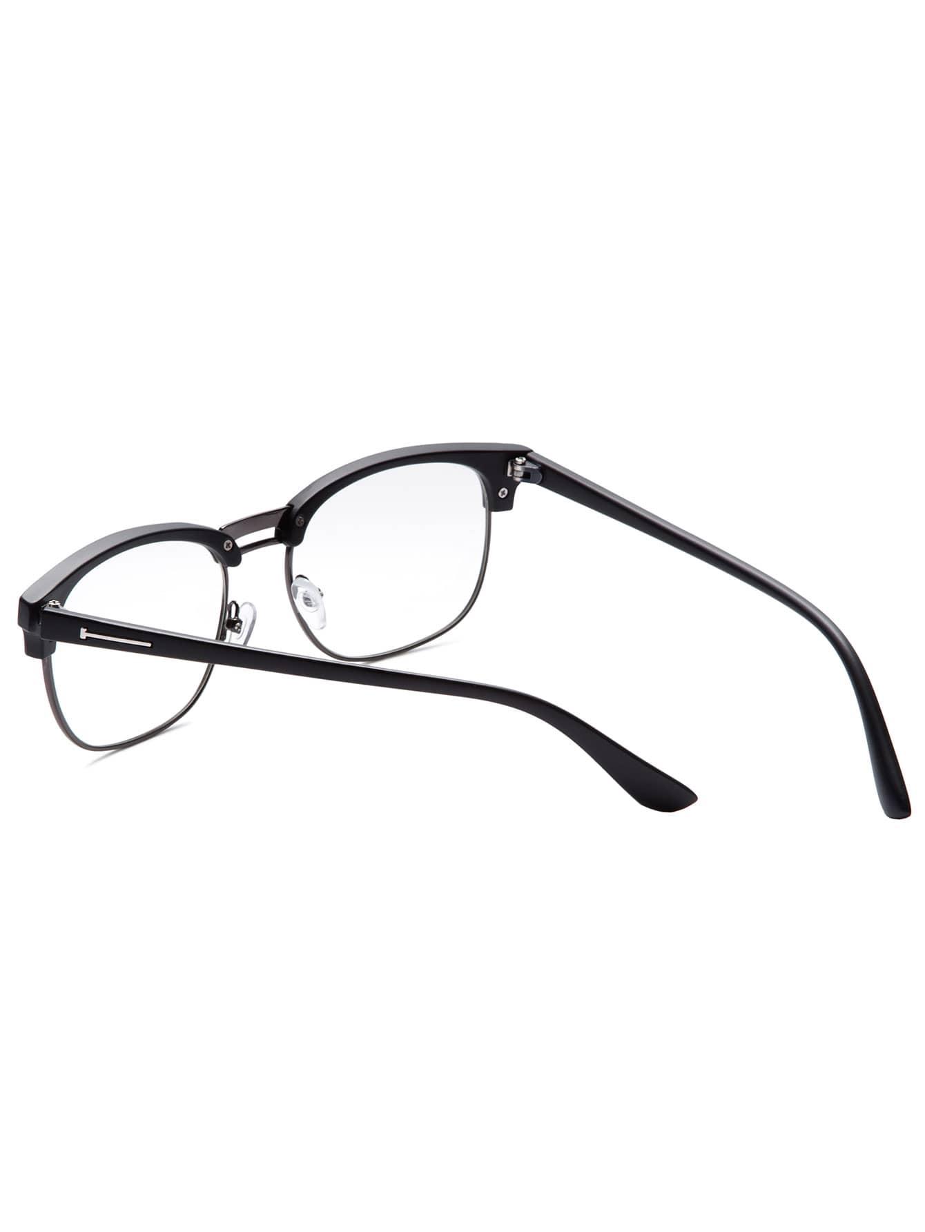 Eyeglass Frame Polish : Black Open Frame Dull Polish Glasses
