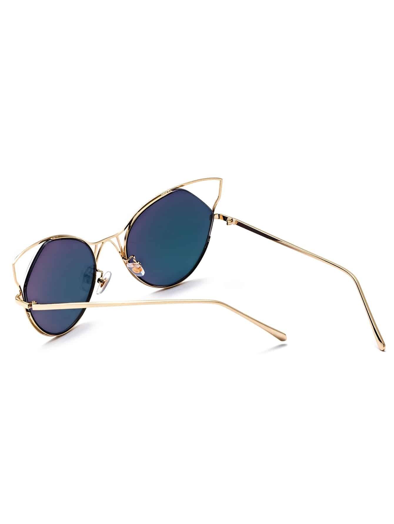 Gold Frame Cat Eye Sunglasses : Gold Frame Pink Cat Eye Sunglasses