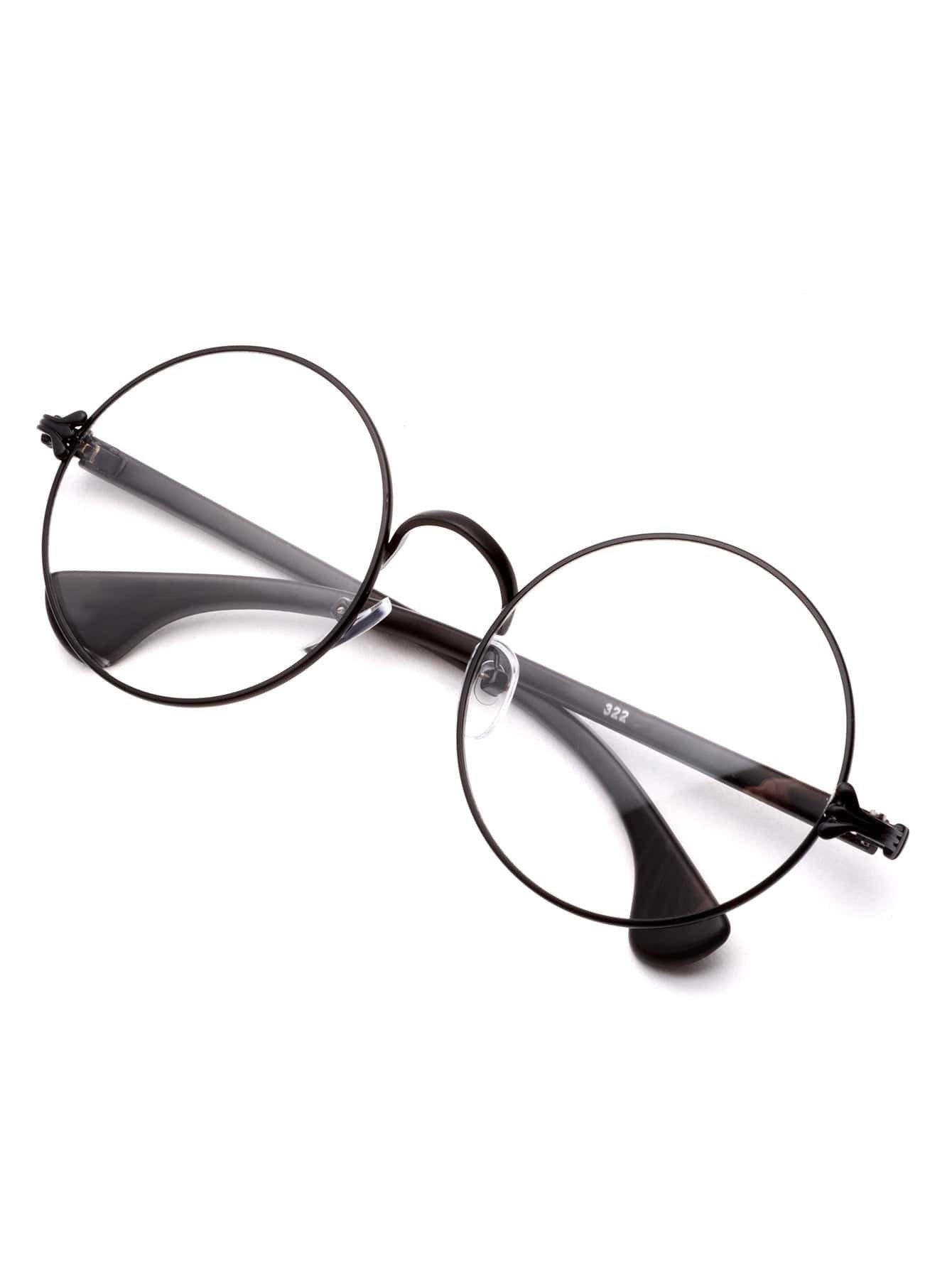 Matte Black Glasses Frame : Matte Black Frame Clear Lens Glasses