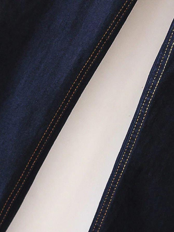 jeans moulant taille haut bleu marine french romwe. Black Bedroom Furniture Sets. Home Design Ideas