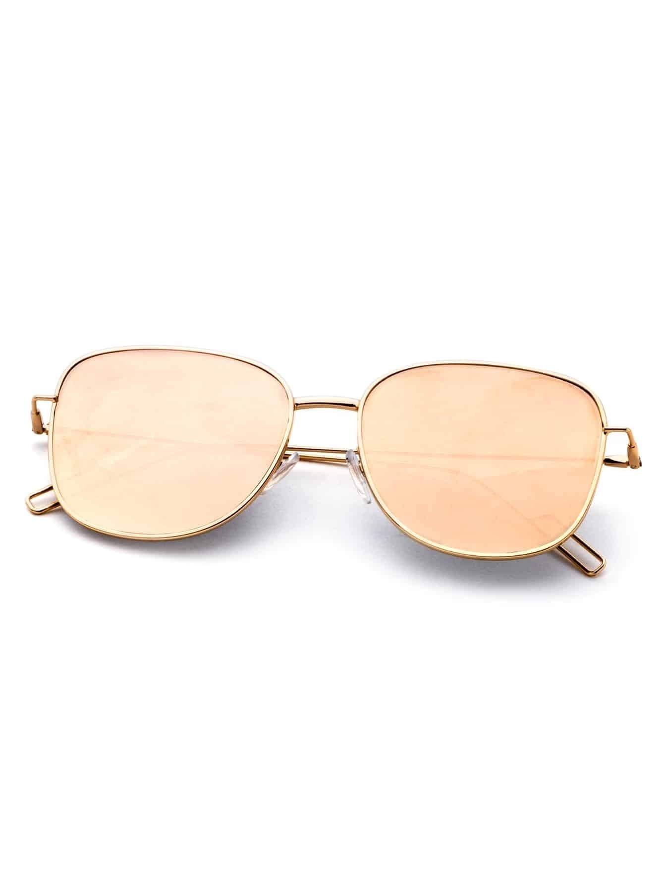 Square Gold Frame Sunglasses : Gold Frame Square Sunglasses