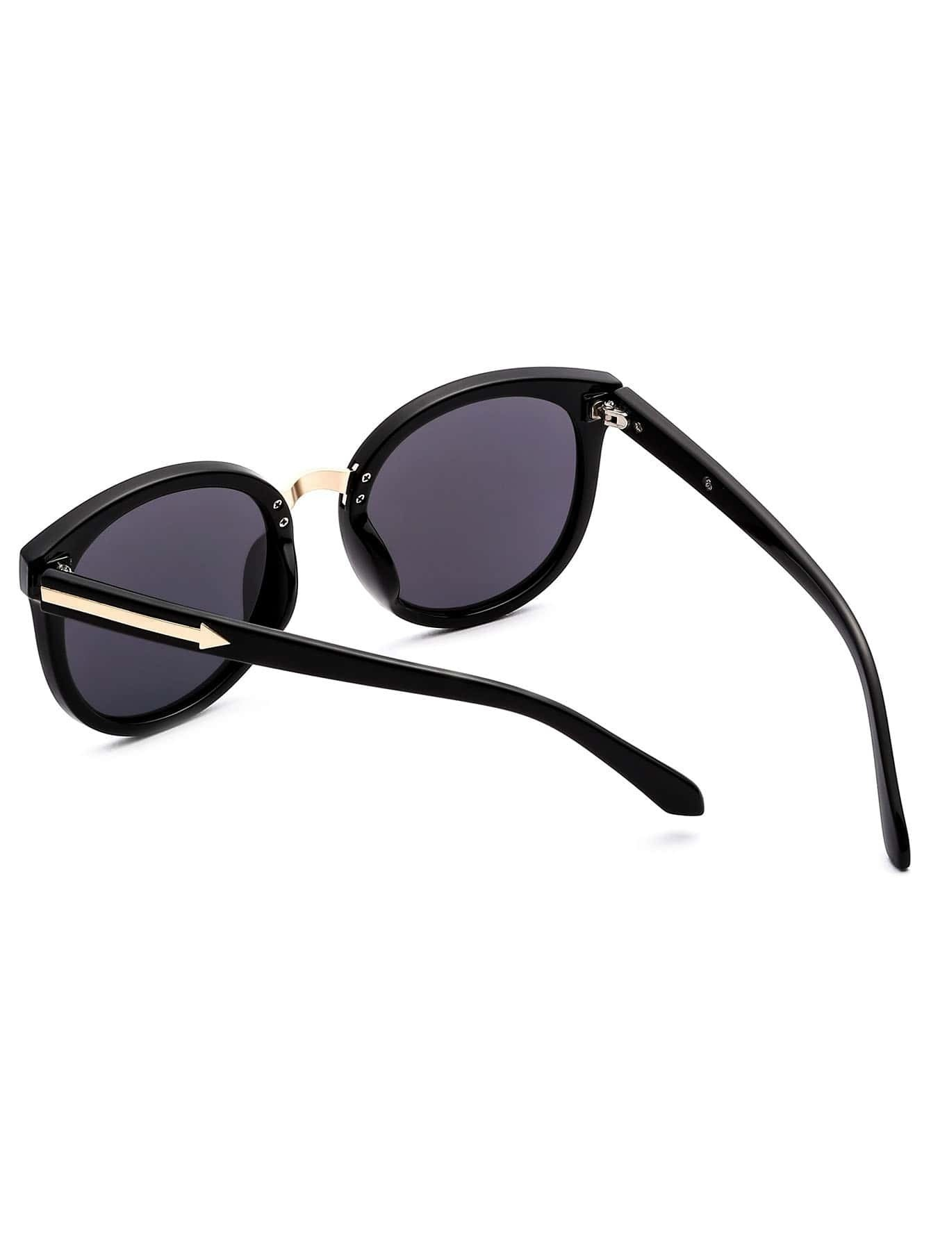 Black Frame Grey Lens Cat Eye Sunglasses