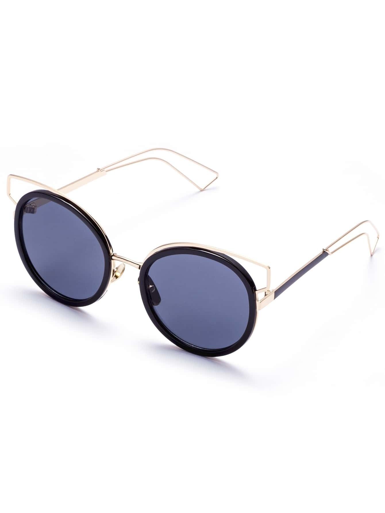 Sunglasses With Gold Frame : Gold Frame Grey Lens Sunglasses