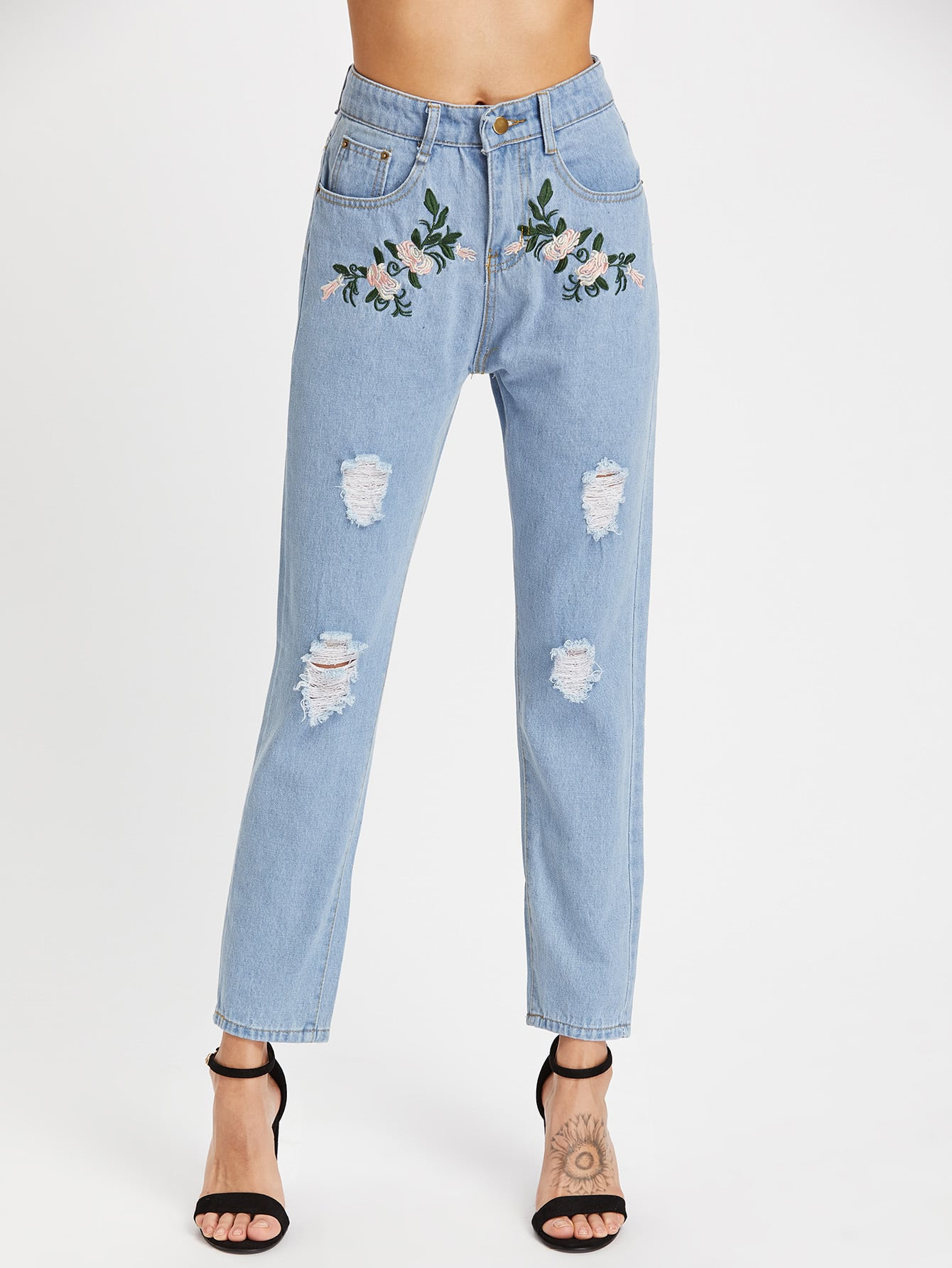 Floral Mom Jeans