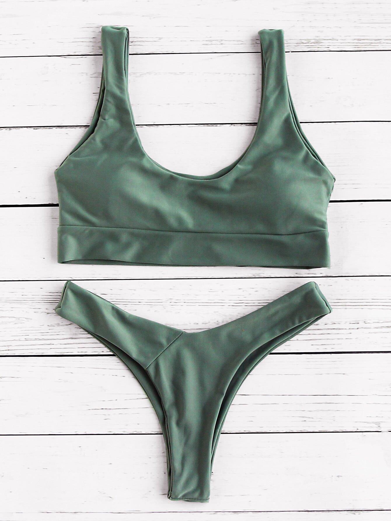 Scoop Neck Bikini Set swimwear170515306